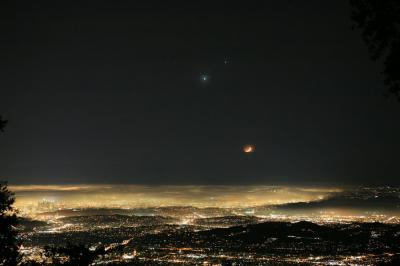 Los Angeles, visto desde el exterior de la Tierra
